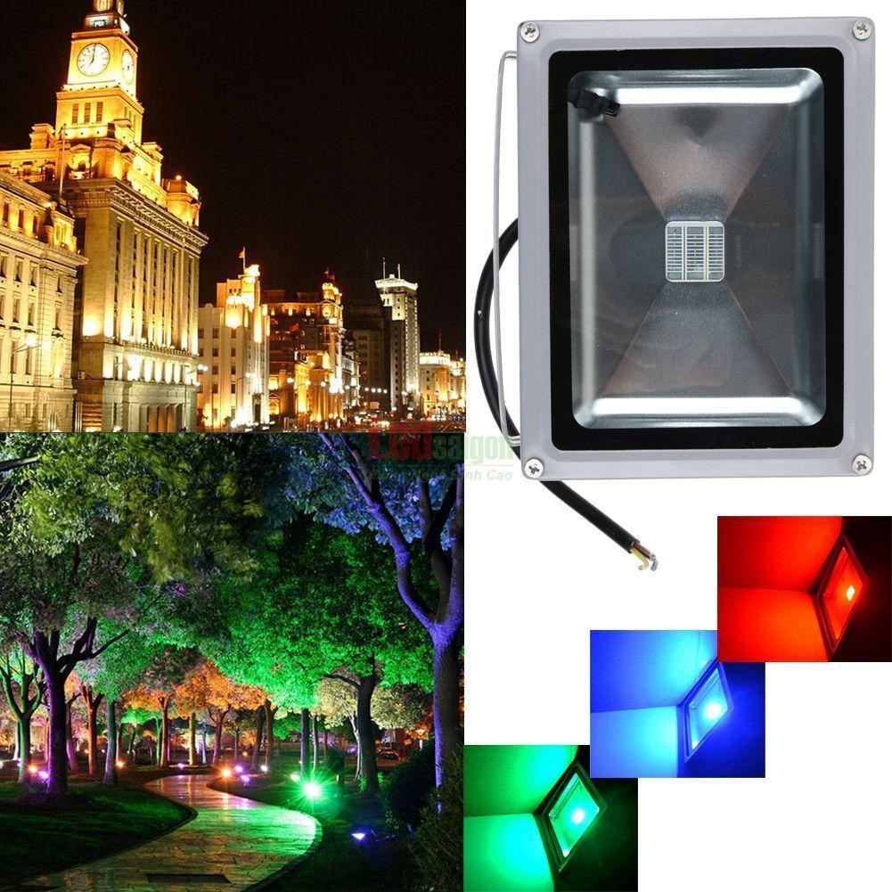 Đèn pha led 20w RGB trang trí quán cà phê