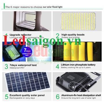 Đèn pha led năng lượng mặt trời 200w giá rẻ