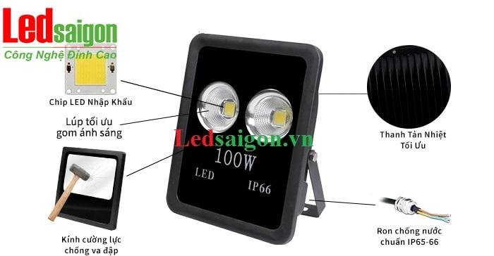 Đèn pha tụ quang 100w