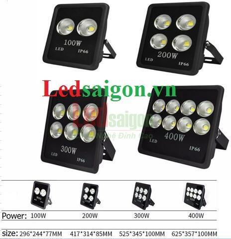 Đèn pha led 400w IP66