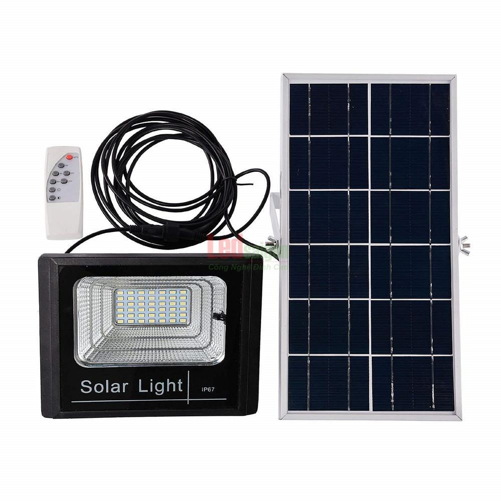 bộ đèn pha led năng lượng mặt trời 100w