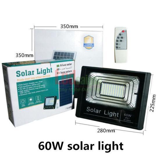 Đèn led pha năng lượng mặt trời 60w