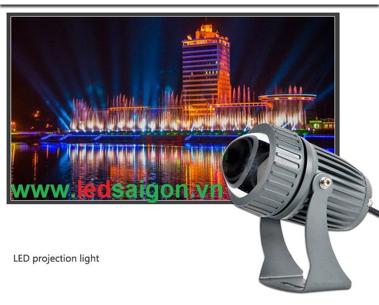 đèn led chiếu tòa nhà