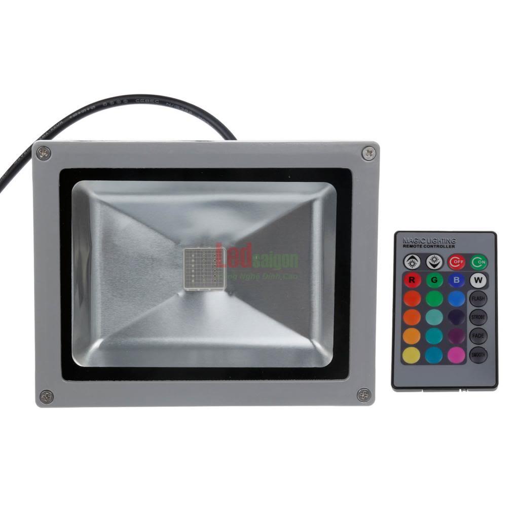 đèn pha led 10w 7 màu
