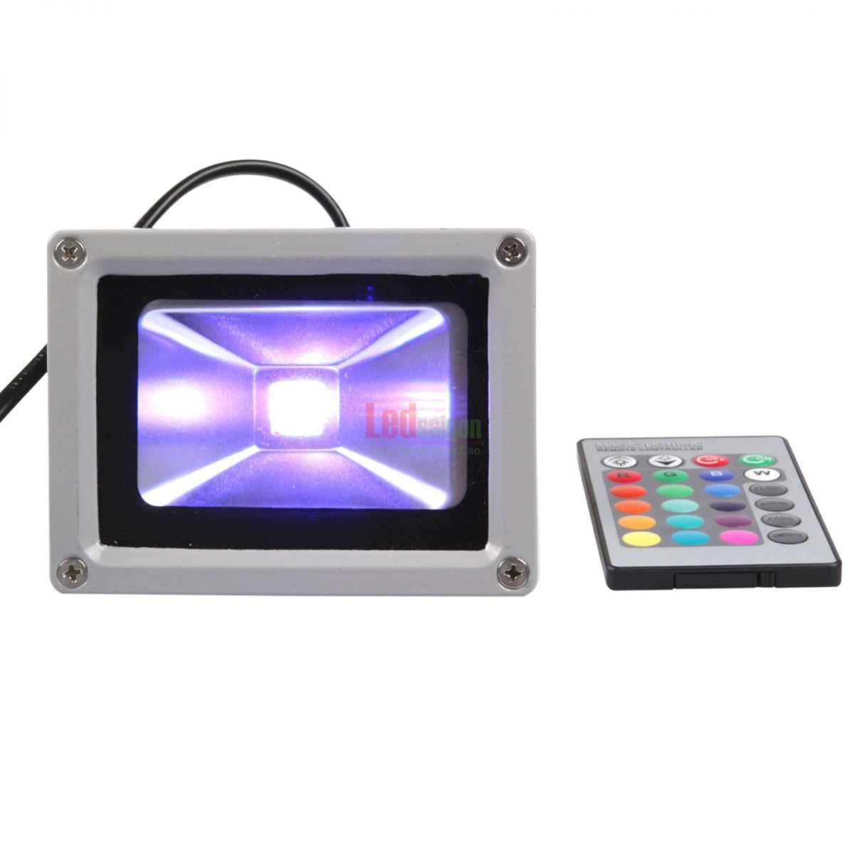 đèn pha led 10w đổi màu