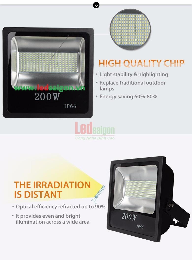đèn pha led cao cấp SMD 200W