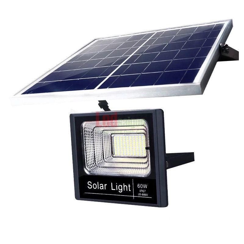 Bộ đèn pha led năng lượng mặt trời 60w