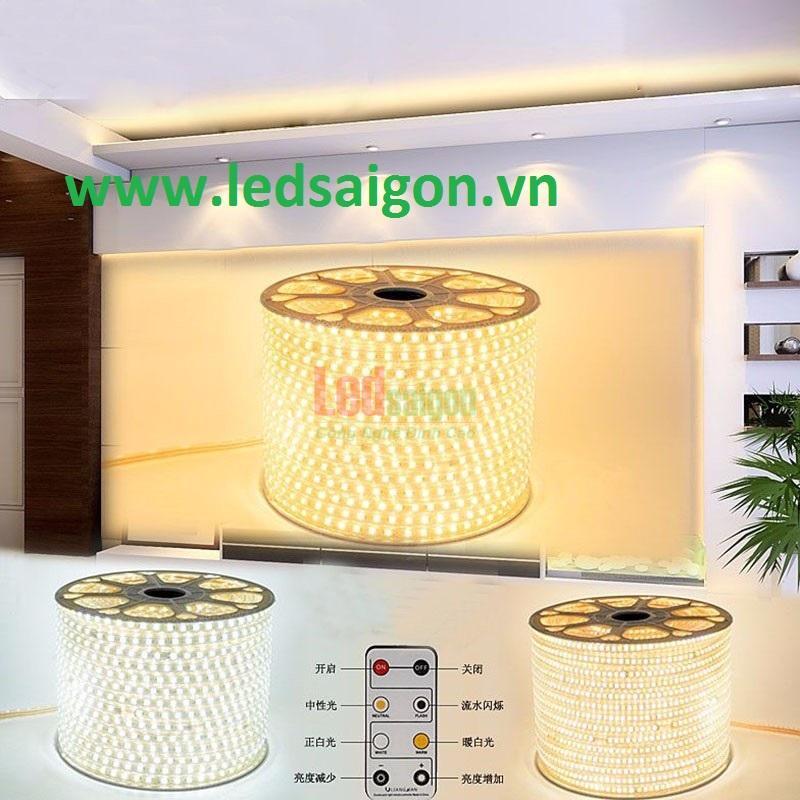 đèn led dây smd 2835 sáng vàng