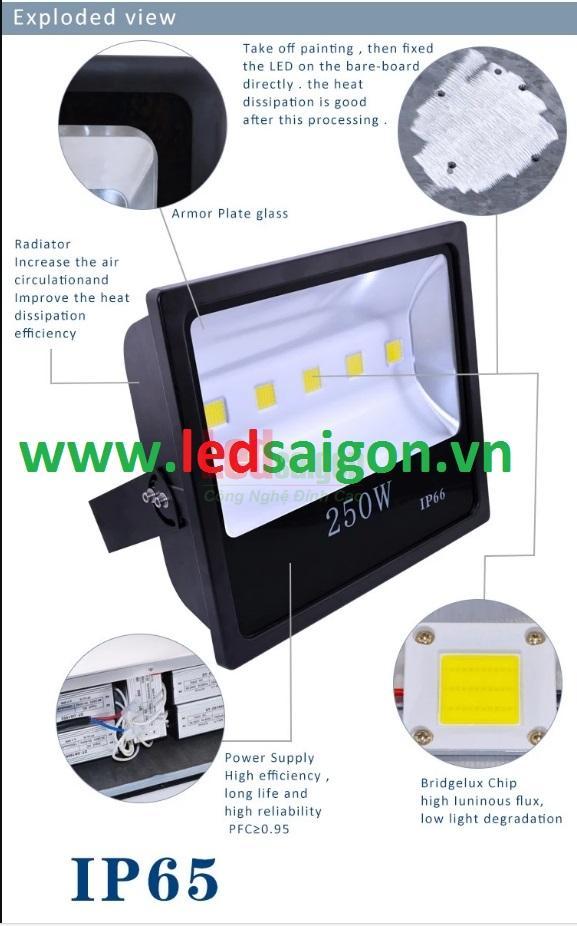 đèn led pha 250w ip65