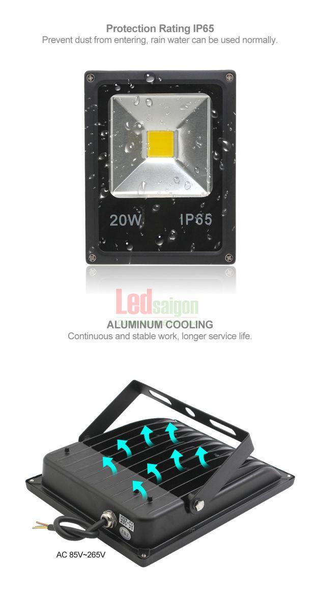 đèn led pha 50w ip66
