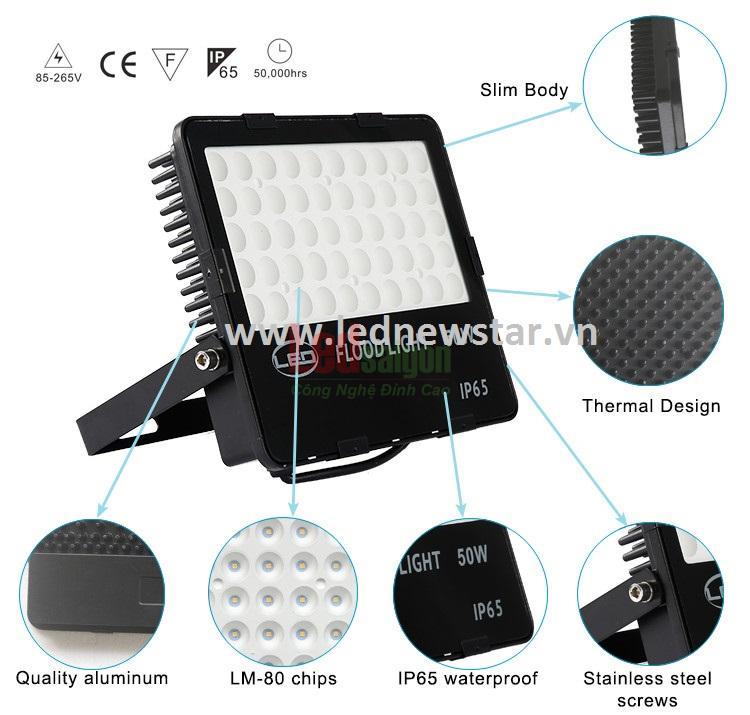 đèn pha led flood light 100w