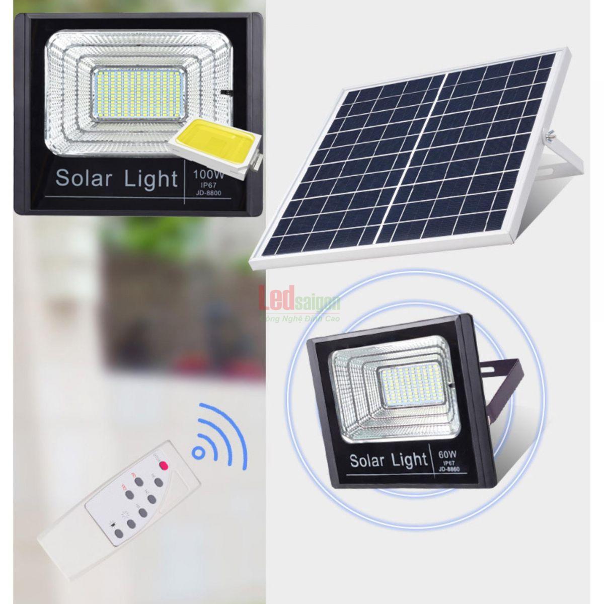 Bộ đèn pha led năng lượng mặt trời 50w