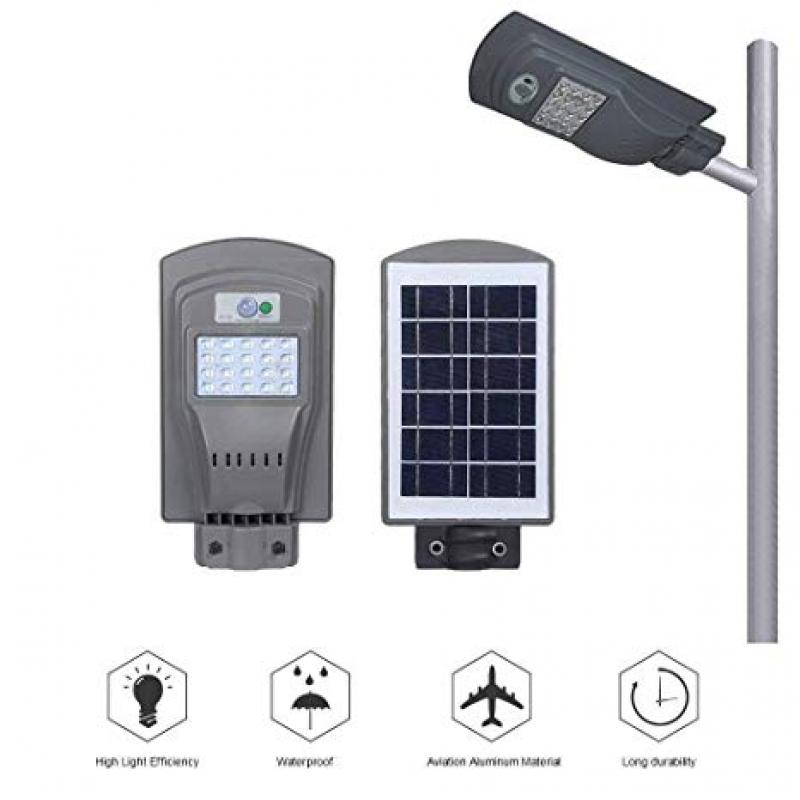Đèn đường năng lượng mặt trời 20w cao cấp